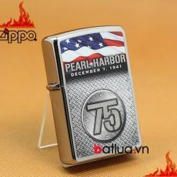 Bật lửa Zippo chính hãng kỷ niệm 75 năm Trân Trâu Cảng - Mã SP: BL03204