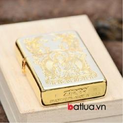 Bật lửa zippo chính hãng mạ vàng đức phật Thích Ca Mâu Ni Ver 1 - Mã SP: BL10049