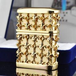 Bật lửa Zippo chính hãng mạ vàng họa tiết đan xen nổi - Mã SP: BL09433