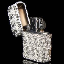Bật lửa Zippo chính hãng màu bạc trắng khắc hình đức phật cổ - Mã SP: BL09761