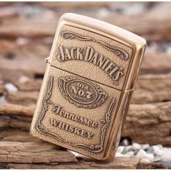 Bật lửa Zippo chính hãng mẫu đồng thương hiệu rượu vang Jack Daniels - Mã SP: BL09103