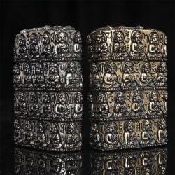 Bật lửa Zippo chính hãng màu đồng vàng khắc hình đức phật cổ - Mã SP: BL09010