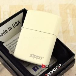 Bật lửa Zippo Chính Hãng màu Trắng Sữa - Mã SP: BL10158
