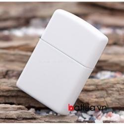 Bật lửa zippo chính hãng màu trắng tinh khiết 214 - Mã SP: BL10083