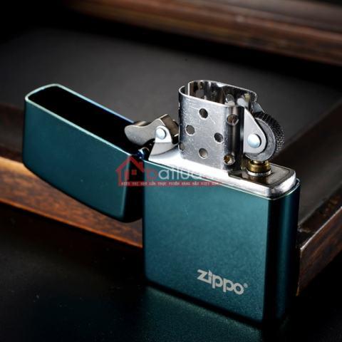 Bật lửa Zippo chính hãng màu xanh ngọc bích