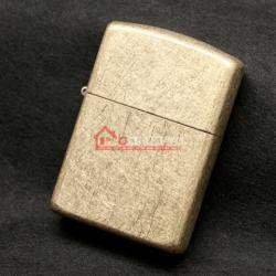 Bật lửa Zippo chính hãng mờ cát vàng xước - Mã SP: BL09946