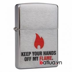 Bật lửa zippo chính hãng Mỹ phiên bản ngọn lửa chrome - Mã SP: BL10168
