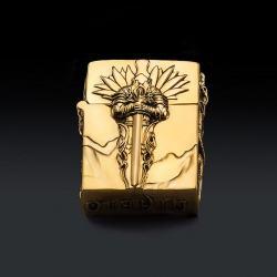 Bật lửa Zippo chính hãng nguyên khổi bạc Tây Tạng đúc thanh kiếm Diablo - Mã SP: BL09151