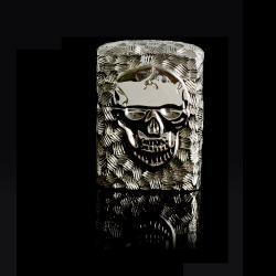 Bật lửa Zippo chính hãng nguyên khối đúc hình đầu lâu mặt kia xương tréo - Mã SP: BL09154