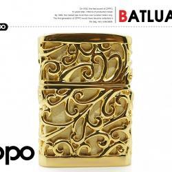 Bật lửa Zippo Chính hãng nhật vàng Regalia với hoạ tiết hoa văn đặc sắc - Mã SP: BL01945