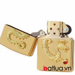 Bật lửa Zippo chính hãng phiên bản giới hạn mạ vàng Dragon giữ ngọc Ver 2 - Mã SP: BL09985