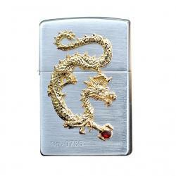 Bật lửa Zippo chính hãng phiên bản giới hạn mạ vàng Dragon giữ ngọc - Mã SP: BL09117