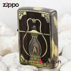 Bật lửa Zippo chính hãng phiên bản màu gỗ In đèn - Mã SP: BL00443