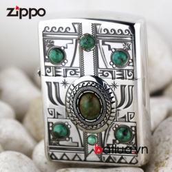 Bật lửa Zippo chính hãng  phiên bản Nhật họa tiết ngọc - Mã SP: BL10287