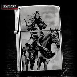 Bật lửa Zippo chính hãng Quan tướng công cưỡi ngựa - Mã SP: BL09115