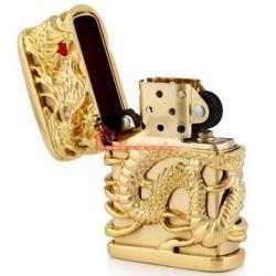 Bật lửa Zippo chính hãng rồng vàng quấn xung quanh - Mã SP: BL09095