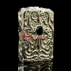bật lửa zippo chính hãng sang trọng đính ngọc họa tiết hoa văn tinh xảo - Mã SP: BL01863