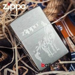 Bật lửa Zippo chính hãng xước sói hú - Mã SP: BL10132