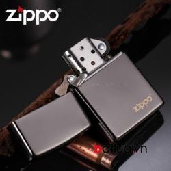 Bật lửa zippo chính hangc đen bóng - Mã SP: BL10085