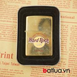 Bật lửa zippo cổ Hard Rock mầu vàng bóng sản xuất năm 1998 - Mã SP: BL03124