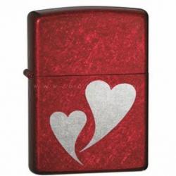 Bật lửa Zippo đỏ in 2 trái tim - Mã SP: BL10321