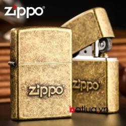 Bật lửa Zippo đồng dập chữ nổi Zippo - Mã SP: BL10318