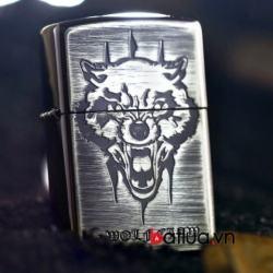 Bật lửa Zippo Hàn quốc phiên bản xước khắc sói 2 mặt - Mã SP: BL10382