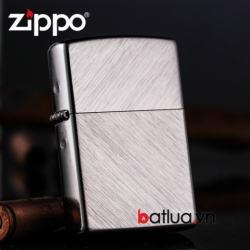 Bật lửa Zippo hoa văn xước đan chéo - Mã SP: BL10299