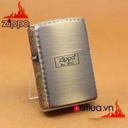 Bật lửa Zippo khắc rồng tinh xảo xung quanh Zippo phiên bản đông cổ giới hạn - Mã SP: BL03188