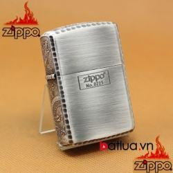 Bật lửa Zippo khắc rồng xung quanh Zippo phiên bản bạc giới hạn - Mã SP: BL03181
