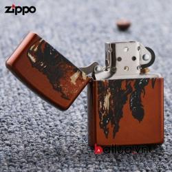 Bật lửa Zippo Mỹ chính hãng phiên bản hóa thạch hộp sọ - Mã SP: BL00445