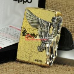 Bật lửa zippo phiên bản giới hạn xuất nhật Zippo Pegasas  cánh được mạ bạc - Mã SP: BL09889