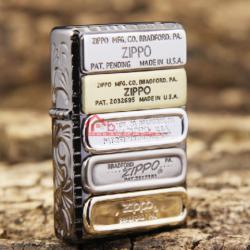 Bật lửa Zippo Phiên Bản Limited Hoạ tiết 12 đáy zippo qua các thời kỳ BMV-S - Mã SP: BL09887