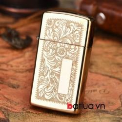 Bật lửa zippo phiên bản vàng Authentic bản hẹp - Mã SP: BL10176
