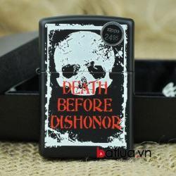 Bật lửa Zippo sơn phiên bản Death Before Dishonor - Mã SP: BL10325