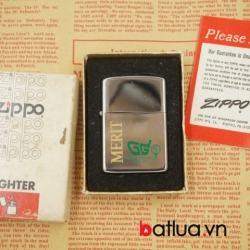 Bật lửa Zippo USA Cổ MERIT Trắng Bóng Sản Xuất Năm 1981 - Mã SP: BL03115