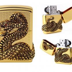 Bật lửa Zippo vàng bao phủ Thanh xà quấn quanh - Mã SP: BL09121