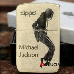 Bật lửa Zippo vàng đồng hình Michael Jackson Ver 2 - Mã SP: BL10014