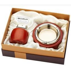 Bộ đôi bật lửa kiêm gạt tàn BORUI ánh kim vàng cực đẹp  BR-05T MS77 007 - Mã SP: BL00476