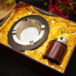 Bộ đôi gạt tàn kiêm bật lửa sang trọng HONEST TA-62 MS77 018 - Mã SP: BL00458