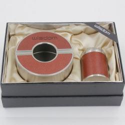 Bộ Gạt tàn kiêm bật lửa WZ-027T bọc da sần sang trọng - Mã SP: BL09688