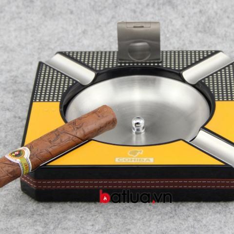 Gạt tàn Cohiba thời trang, kèm dao cắt bằng thép ko rỷ