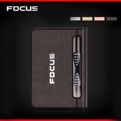Hộp đựng thuốc đa năng Focus kiêm bật lửa đẩy thuốc tiện lợi vỏ được bọc nhôm ( loại đựng được 10 điếu thuốc ) - Mã SP: BL01872