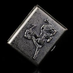 Hộp đựng thuốc khắc hoa văn của người ai cập khắc hình Nhân sư nổi huyền bí (loại 18 điếu) - Mã SP: BL01556