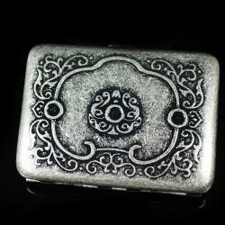 Hộp đựng thuốc lá bằng đồng chi tiết hoa văn hoài cổ (loại 16 điếu) - Mã SP: BL01545