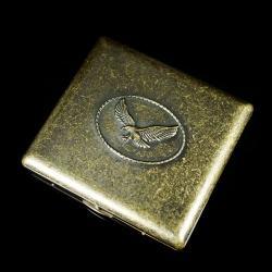 Hộp đựng thuốc lá bằng đồng cổ hình con đại bàng mạnh mẽ (loại 20 điếu) - Mã SP: BL01551