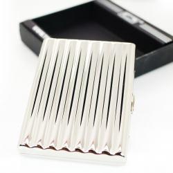 Hộp đựng thuốc lá bằng inox hình gợn sóng sang trọng ( loại 20 điếu ) - Mã SP: BL01540