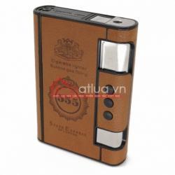 Hộp đựng thuốc lá đa năng bọc da 555 ( mẫu.2) - Mã SP: BL09925