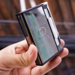 Hộp đưng thuốc lá đa năng đẩy thuốc kiêm bật lửa khè in GUCCI - Mã SP: BL09166