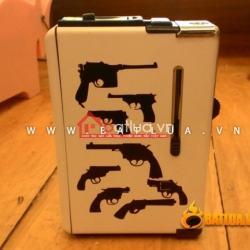 Hộp đựng thuốc lá đa năng in hình các mẫu súng - Mã SP:  BL09842